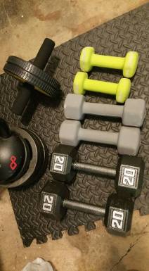 Dumbbells and Kettle Bell